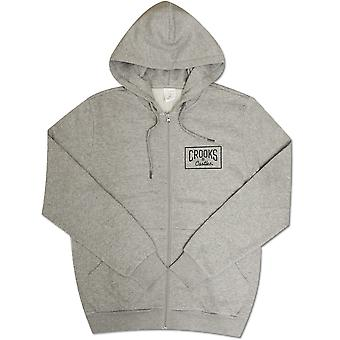 Crooks & Castles Castles Crkskull Zip Hoodie Heather Grey