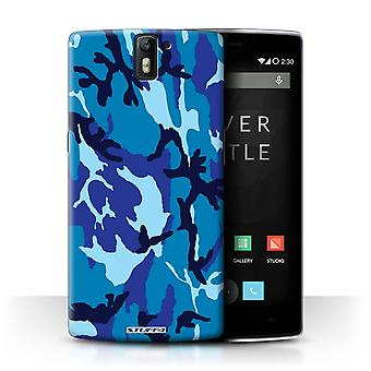 STUFF4 Case/Cover voor OnePlus One/blauw 4/Camouflage Army Navy
