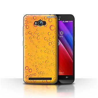 STUFF4 Case/Cover for Asus Zenfone Max ZC550KL/Orange/Yellow/Water Droplets