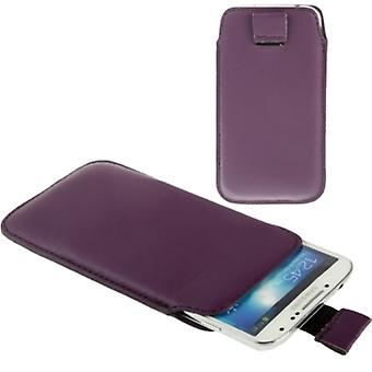 Lame mobile affaire sac pour mobile Samsung Galaxy S5 / S5 neo pourpre / violet