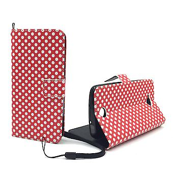 Mobile phone case pochette pour mobile Acer liquid Z530 polka dot rouge