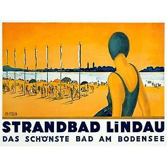 Strandbad Lindau Poster Print by  Charles Metzger