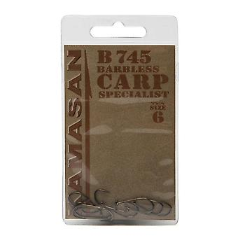 New Kamasan B745 Carp Hook Fishing Gear  Outdoors Silver