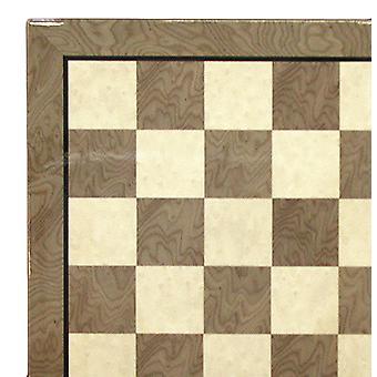 17 tommers grå & elfenben glanset sjakkbrett