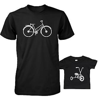Bicycle And Tricycle Dad and Baby Matching T-shirts Cute Father's Day Gift Ideas
