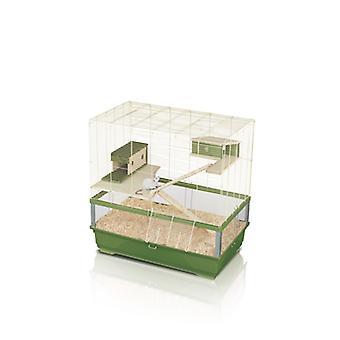 Plexi 80 Mid Wood Rat Cage 80x80x48.5cm