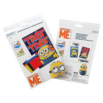 MINIONS | Despicable Minion Mosaic Picture | Creative Fun Adhesive Mosaics