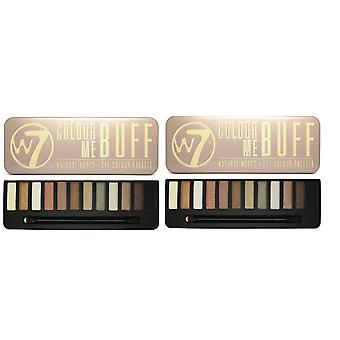 W7 Eye Shadow Palette (BUFF, NUDE, NIGHT, TOASTED) SINGLES OR ANY COMBO[In the Buff,In the Buff]