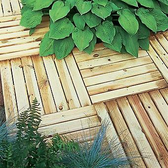 Forest Garden Ridged Deck Tile 50 x 50cm - Pack of 4