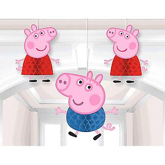 Peppa Pig Honeycomb dekorationer