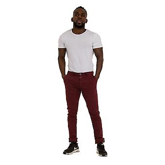 Slim Fit Mens Chinos - burgunder Smart Casual Chino bukser menns bukser