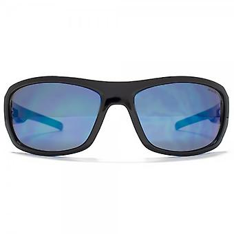 Animal Carve Large Wrap Sunglasses In Black On Blue