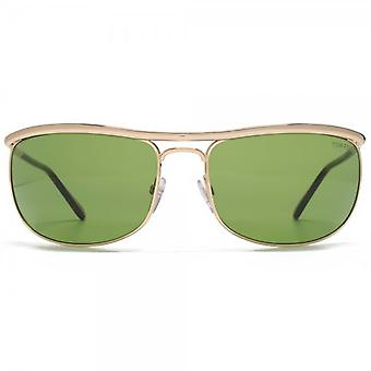 Tom Ford Ryder Sunglasses In Shiny Rose Gold Green
