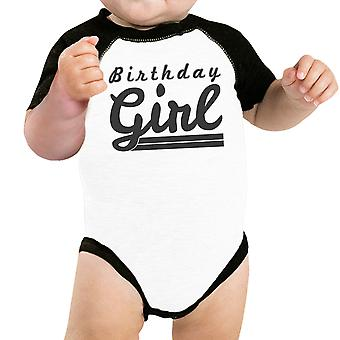 Baby Girl Baseball Onesie Cute Black Sleeve Baby Raglan Tee Gifts