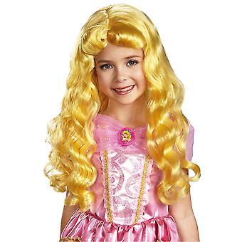 Aurora Disney Princess Sleeping Beauty Story Book Week Girls Costume Wig