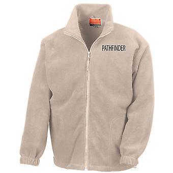 Pathfinder Parachute Regiment Text Stickerei Logo - offizielle Full Zip Fleece