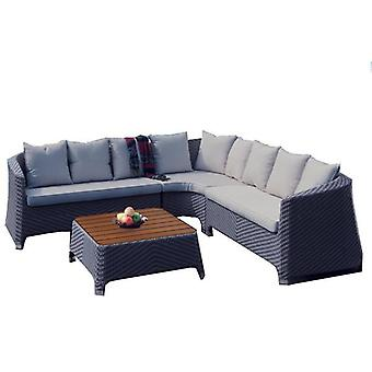 BrackenStyle Oasis Light Grey Rattan Corner Sofa Set