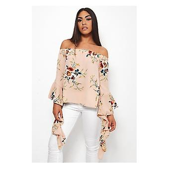 The Fashion Bible Dion Bardot Floral Top