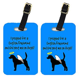 Carolines Treasures  AN1027BT Pair of 2 English Foxhound Luggage Tags