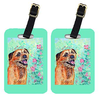 Carolines Treasures  7228BT Pair of 2 Border Terrier Luggage Tags