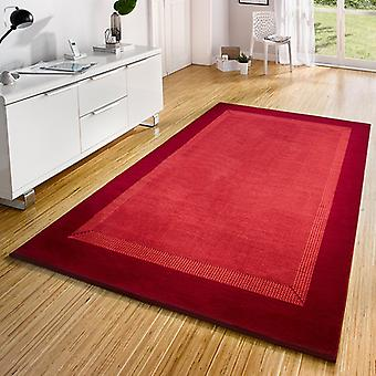 Design Velours Teppich Band Rot