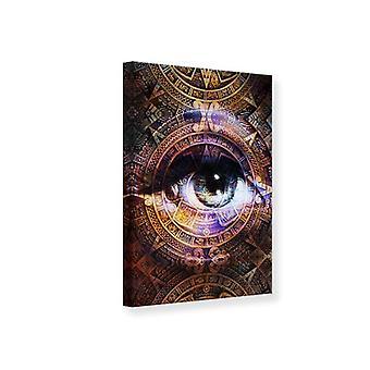 Lærred Print psykedelisk øje