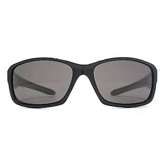 Freedom Polarised Logan Wraparound Sunglasses In Shiny Black