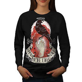 Vous voyez un corbeau mort horreur femmes BlackSweatshirt | Wellcoda
