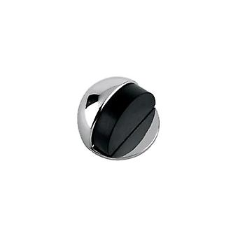 Zoo Door Stop - Floor Mounted - Oval - Solid - Polished Chrome - ZAB06CP