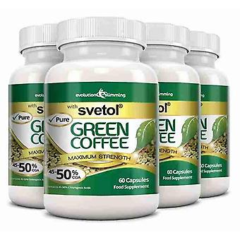 Pure Svetol Green Coffee Bean with 50% CGA - 240 Capsules - Fat Burner and Antioxidant - Evolution Slimming