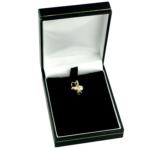 9ct Gold 14x12mm Chick Pendant or Charm