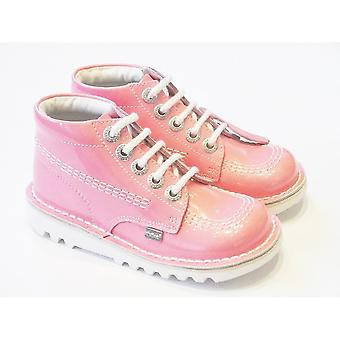 Kickers Girls Kickers Boots | Kick Hi Boots In Pink Patent Leather
