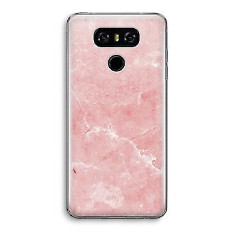 LG G6 Transparent Case - Pink Marble
