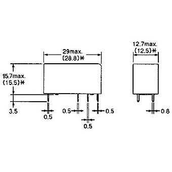 PCB relays 24 Vdc 8 A 2 change-overs Omron G2RL-2