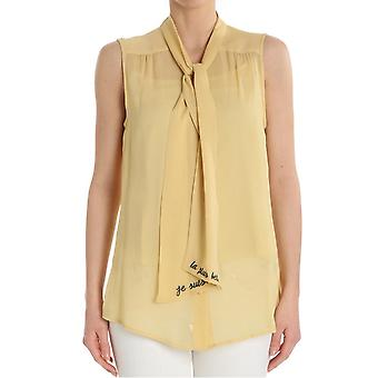 Ottod'ame ladies UMODT86531536 yellow viscose top