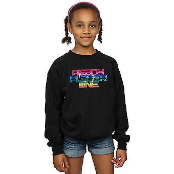 Ready Player One Girls Rainbow Logo Sweatshirt