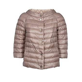 Herno women's PI0769D120172600 Brown nylon Quilted Jacket
