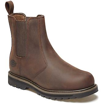 Dickies Mens Workwear Trinity Non Safety Dealer Brown Boots With Padded Insole