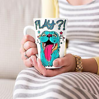 Schattig beest spelen dierlijke nieuwe witte thee koffie keramische Latte Mok 17 oz | Wellcoda