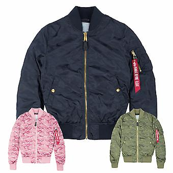 Alpha industries women's bomber jacket MA-1 VFLW shiny Camo Wmn