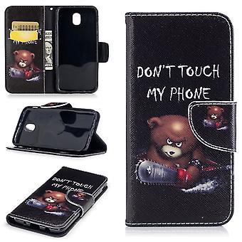 Tasche Wallet Motiv 41 für Samsung Galaxy J3 J330F 2017 Hülle Case Etui Cover Schutz