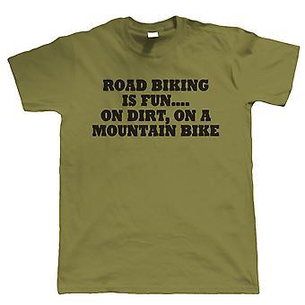 Rennrad ist Spaß, Mens lustige T Shirt