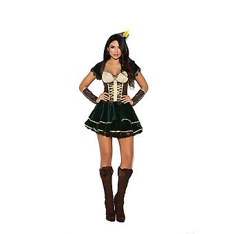 Elegant Moments Womens Archer Hunter Ranger Halloween Roleplay Costume