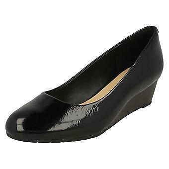 Ladies Clarks bassa corte zeppa scarpe Vendra Bloom