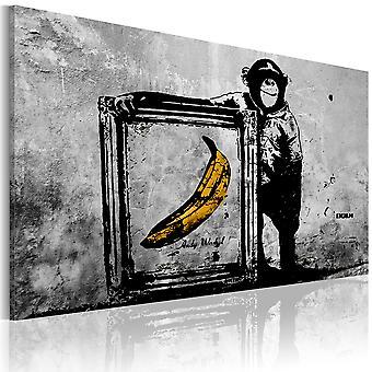 Leinwand Drucken - inspiriert von Banksy - schwarz / weiß