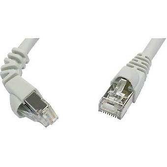 RJ45 Networks Cable CAT 6A S/FTP 5 m Grey Flame-retardant, incl. detent Telegärtner