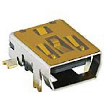 Mini-USB 2.0 built-in coupling type from Socket, horizontal mount 2486 02 VP3 Lumberg Content: 1 pc(s)