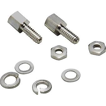 Mounting bolt BKL Electronic 10120291 Silver 8 Parts