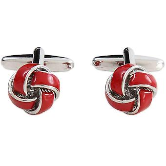 David Van Hagen Knot Cufflinks - Red