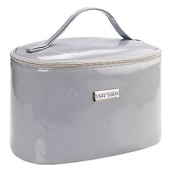 Baby Star Patent Leather Thermal Lunch Bag Grey